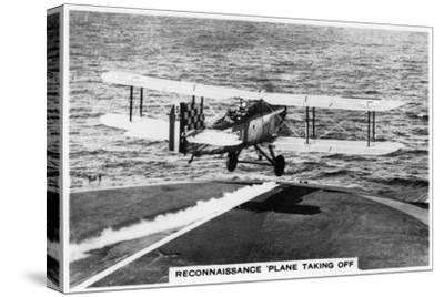 Fairey III F Reconnaissance Plane Taking of from the Aircraft Carrier HMS Courageous, 1937--Stretched Canvas Print
