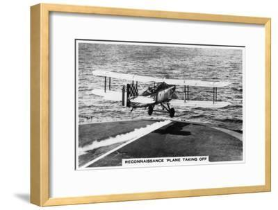 Fairey III F Reconnaissance Plane Taking of from the Aircraft Carrier HMS Courageous, 1937--Framed Giclee Print