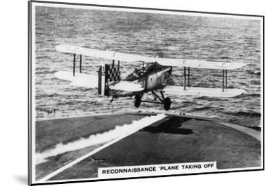 Fairey III F Reconnaissance Plane Taking of from the Aircraft Carrier HMS Courageous, 1937--Mounted Giclee Print