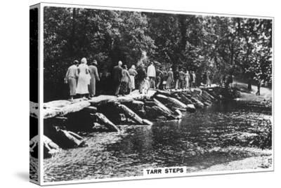 Tarr Steps, across the River Barle in Exmoor, Somerset, 1937--Stretched Canvas Print