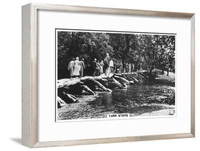 Tarr Steps, across the River Barle in Exmoor, Somerset, 1937--Framed Giclee Print