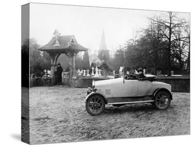 1922 11.9 Hp Calcott Outside a Church, (C1922)--Stretched Canvas Print