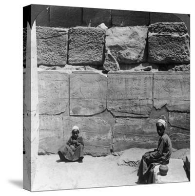 Plants and Animals Brought from Syria by the Pharaohs, Temple of Karnak, Egypt, 1905-Underwood & Underwood-Stretched Canvas Print