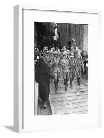 British Troops on the Way to Baghdad, First World War, 1917--Framed Giclee Print