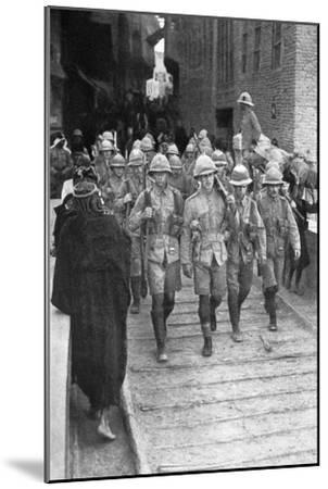 British Troops on the Way to Baghdad, First World War, 1917--Mounted Giclee Print