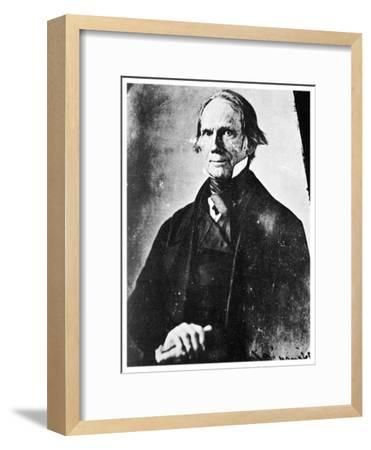 Henry Clay, American Statesman, 1850-MATHEW B BRADY-Framed Giclee Print