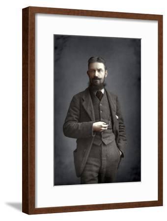George Bernard Shaw, Irish Dramatist, Critic and Fabian, 1893-W&d Downey-Framed Giclee Print