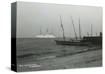 Steamship 'Atlantis' Off Bathurst, Gambia, 20th Century--Stretched Canvas Print