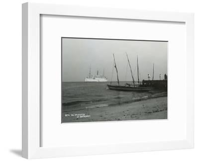 Steamship 'Atlantis' Off Bathurst, Gambia, 20th Century--Framed Giclee Print