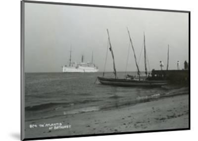 Steamship 'Atlantis' Off Bathurst, Gambia, 20th Century--Mounted Giclee Print