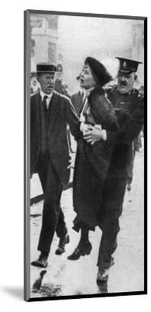 Mrs Pankhurst, Arrested Outside Buckingham Palace, London, 1914--Mounted Giclee Print
