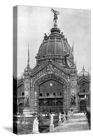 The Central Dome, Universal Exposition, Paris, 1889--Stretched Canvas Print