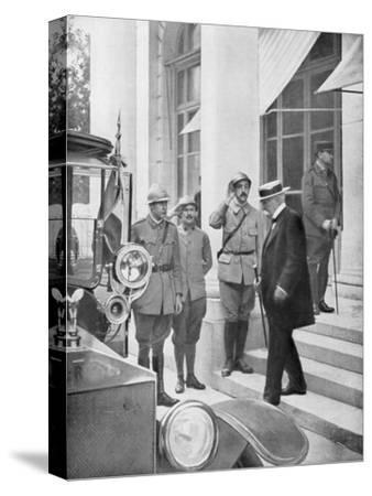 French Prime Minister Georges Clemenceau in Versailles, France 3 June 1918--Stretched Canvas Print