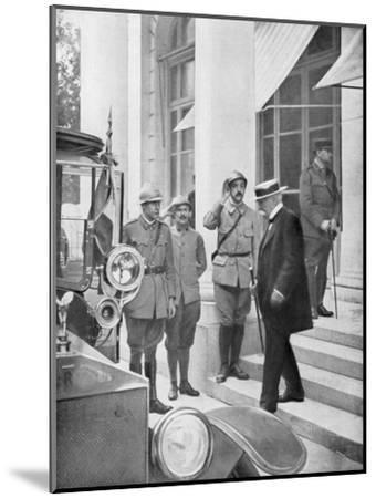French Prime Minister Georges Clemenceau in Versailles, France 3 June 1918--Mounted Giclee Print