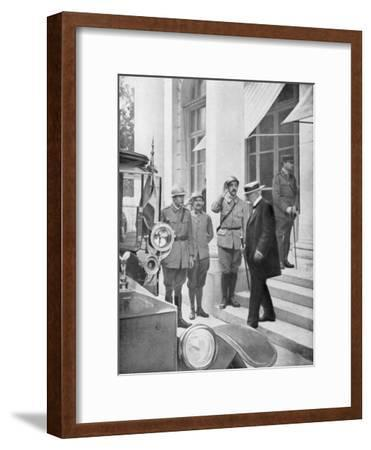 French Prime Minister Georges Clemenceau in Versailles, France 3 June 1918--Framed Giclee Print
