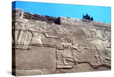 Rameses II and the Tree of Life, Karnak, Egypt, 13th Century Bc--Stretched Canvas Print