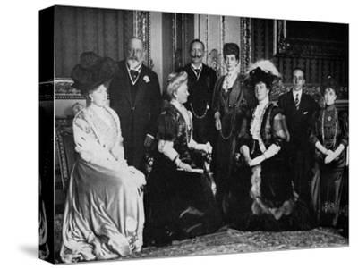 European Royalty at Windsor Castle, 17th November 1907--Stretched Canvas Print