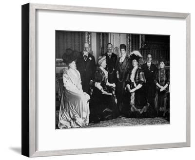 European Royalty at Windsor Castle, 17th November 1907--Framed Giclee Print