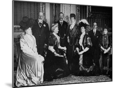 European Royalty at Windsor Castle, 17th November 1907--Mounted Giclee Print