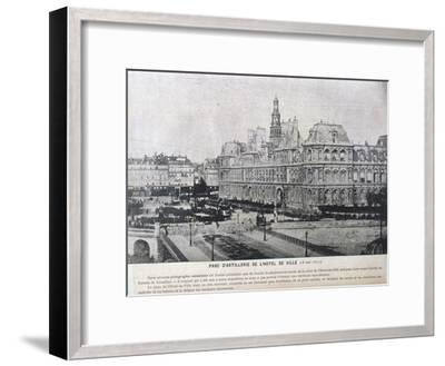 Artillery Pieces Lined Up Outside the Hotel De Ville, Paris, 16 May 1871--Framed Giclee Print