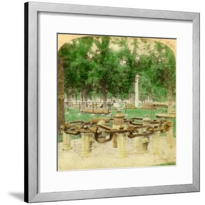 The Great Chain, Trophy Point, West Point, New York, USA, 1901-Underwood & Underwood-Framed Giclee Print