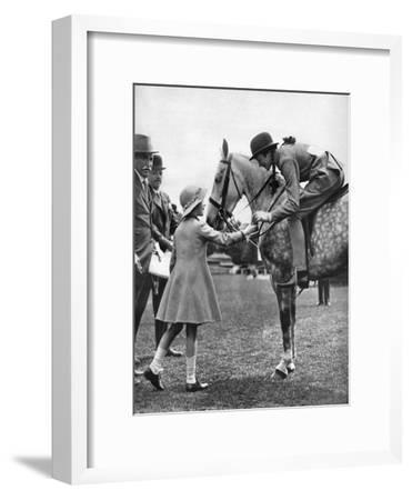 Princess Elizabeth at Children's Day, Richmond Horse Show, C1936--Framed Giclee Print