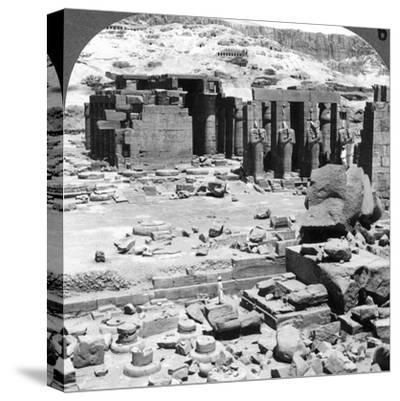 The Ramesseum, the Temple of Ramses Ii, at Thebes, Egypt, 1905-Underwood & Underwood-Stretched Canvas Print