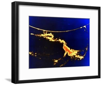 X-Ray Image of a Solar Flare--Framed Giclee Print