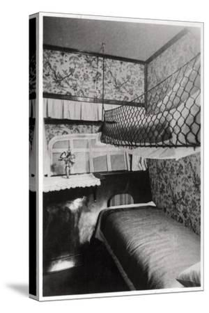 Passenger Cabin at Night, LZ 127 Graf Zeppelin, 1933--Stretched Canvas Print