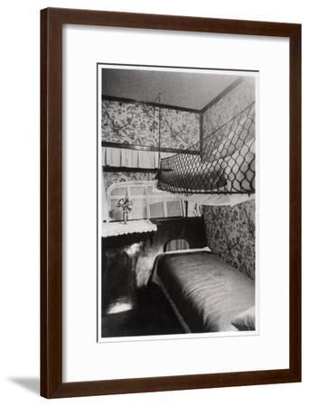 Passenger Cabin at Night, LZ 127 Graf Zeppelin, 1933--Framed Giclee Print
