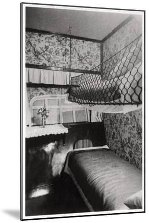 Passenger Cabin at Night, LZ 127 Graf Zeppelin, 1933--Mounted Giclee Print