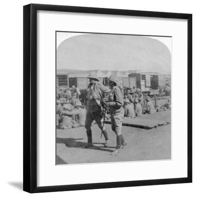 Lord Kitchener and General Pole-Carew at Pretoria Rail Station, South Africa, 5th June 1901-Underwood & Underwood-Framed Giclee Print