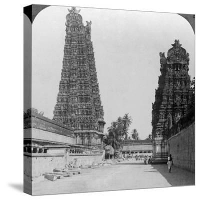Gopuram, Sri Meenakshi Hindu Temple, Madurai, Tamil Nadu, India, C1900s-Underwood & Underwood-Stretched Canvas Print