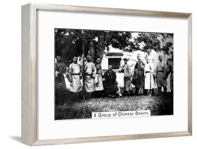 A Group of Chinese Boxers, 20th Century--Framed Giclee Print