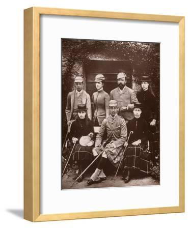 The Prince and Princess of Wales in Shooting Dress, 1900- Russell & Sons-Framed Giclee Print
