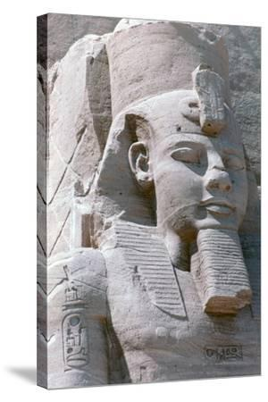 Colossal Statue of Rameses II, Temple of Abu Simbel, Egypt, 13th Century BC--Stretched Canvas Print