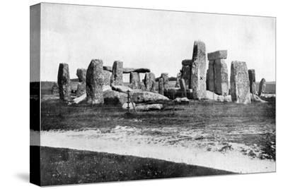 Stonehenge after Restoration, C1920--Stretched Canvas Print