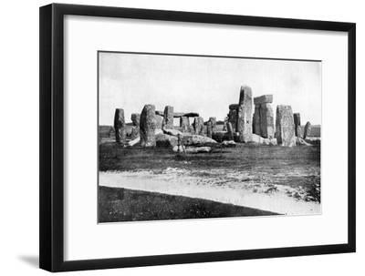 Stonehenge after Restoration, C1920--Framed Giclee Print