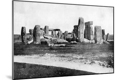 Stonehenge after Restoration, C1920--Mounted Giclee Print
