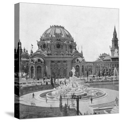 Temple of Music at the Pan-American Exhibition at Buffalo, 1901--Stretched Canvas Print