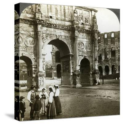 Arch of Constantine, Rome, Italy-Underwood & Underwood-Stretched Canvas Print