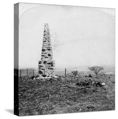 Monument to the 27th Inniskillings, Hart's Hill, Near Colenso, Natal, South Africa, Boer War, 1901-Underwood & Underwood-Stretched Canvas Print