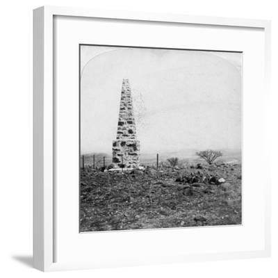 Monument to the 27th Inniskillings, Hart's Hill, Near Colenso, Natal, South Africa, Boer War, 1901-Underwood & Underwood-Framed Giclee Print