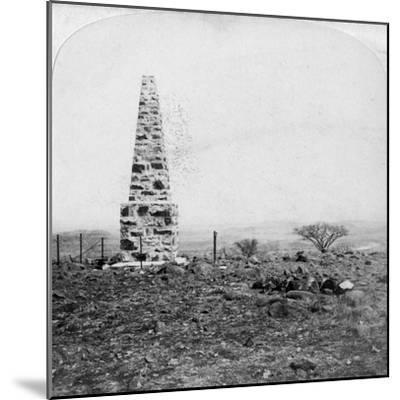 Monument to the 27th Inniskillings, Hart's Hill, Near Colenso, Natal, South Africa, Boer War, 1901-Underwood & Underwood-Mounted Giclee Print