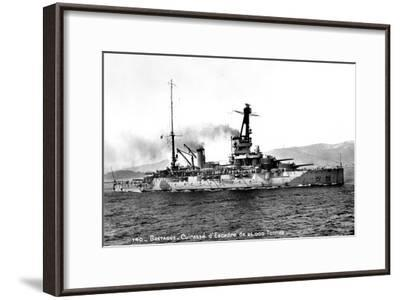 Bretagne' French Dreadnought of 25,000 Tons, C1915-1940--Framed Giclee Print