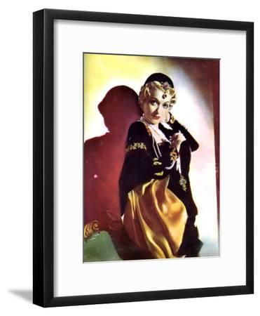 Constance Bennett, American Actress, 1934-1935--Framed Giclee Print
