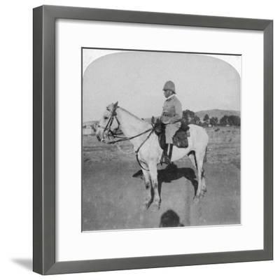 Major-General John French, the Intrepid Cavalry Leader, Pretoria, South Africa, Boer War, 1901-Underwood & Underwood-Framed Giclee Print
