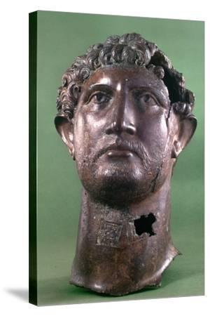 Bronze Head of the Emperor Hadrian, 2nd Century Ad--Stretched Canvas Print