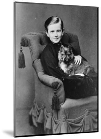 Grand Duke Paul Alexandrovich of Russia with His Pet Dog, C1867-C1869--Mounted Giclee Print