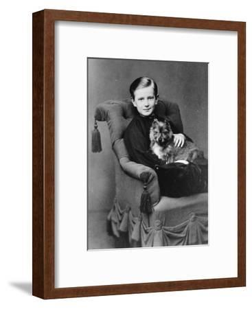 Grand Duke Paul Alexandrovich of Russia with His Pet Dog, C1867-C1869--Framed Giclee Print